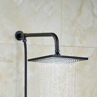 rain shower head arm and hose set. Wall Mount Square Black Oil Rubbed Bronze 8 Shower Head Rain Sprayer Arm  Hose Traditional Set