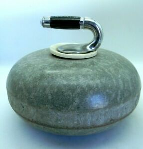 "Granite Curling Rock Stone Olympic Sport Vintage 11.5"" dia 34.5"" circ Vintage"