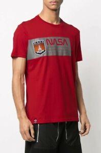 Alpha Industries Red NASA EXPLORE MARS Reflective T Shirt Size Medium RRP £40