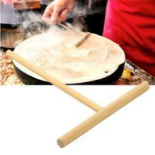 T-shape Pancake Batter Crepe Maker Wooden Rake Spreader Stick Home Kitchen Tool