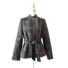 Banana Republic Tweed Jacket Size Medium Women Career Blazer Tie Waist