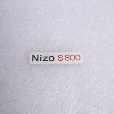 Braun Nizo S800 Front Name Plate Super 8 Movie Camera Genuine
