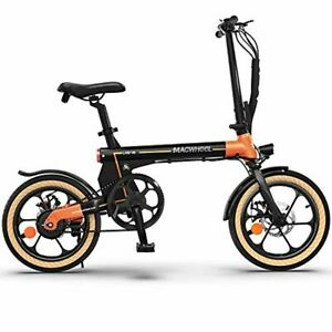"""Macwheel 16"""" Folding Electric Bike, Electric Commuter Bicycle with 7.5Ah Lithium"""