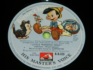 PINOCCHIO : Little wooden head / When you wish upon a star - 1940 film 78rpm 212