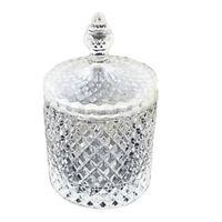 Bonboniera Ciotola Coppa di Cristallo con Coperchio Barattoro Caramelle Zucchero