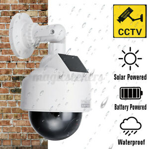 Dummy Fake Dome Security Camera Blinking LEDs Flashing Light CCTV