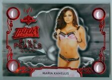 "MARIA KANELLIS ""QUAD PEARL #1/1"" BENCHWARMER PINK ARCHIVE 2016 WWE DIVA"