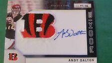ANDY DALTON 2011 PANINI PATCH CARD BENGALS SHORT #103/299 (( ROOKIE AUTOGRAPH ))