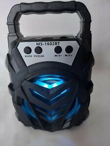 "Portable Mini Speaker, Bluetooth, FM Radio Loud, Flashing Party Disco Lights 7"""