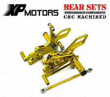 Rear Sets Adjustable Foot Peg Rearsets For Kawasaki Ninja ZX-10R 2004-2005 Gold