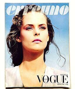 Erreuno Allegato Vogue Italia n. 408 febbraio 1984 Milano Roma Vintage Fashion
