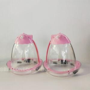 2PCS Medium Breast Plastic Cup Replacement For Breast Vacuum Enlargement Machine