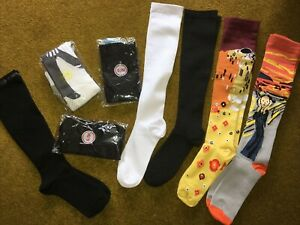 Bundle 8 Pairs ladies unworn long Compression socks size S/M