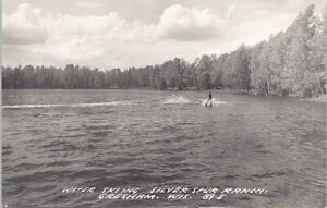 RPPC Gresham WI Water Skiing at Silver Spur Ranch 1950s