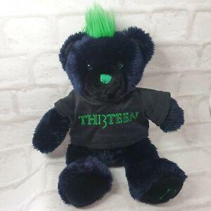 Alton Towers 14inch Th13teen Bear Cuddly Toy Plush 13 Thirteen w Tshirt
