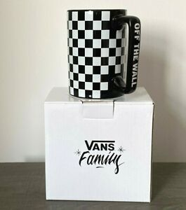 Rare Brand New & Boxed Official VANS Family Tall Checkerboard Ceramic Cup Mug