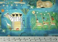 QT ~ Migration African Animal Print Blue  24974-Q ~ 100% Cotton Quilt Fabric BTY