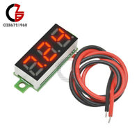 "10Pcs 0.28"" 2 Wire Voltage Meter Mini Red LED Panel 3-Digital Display Voltmeter"