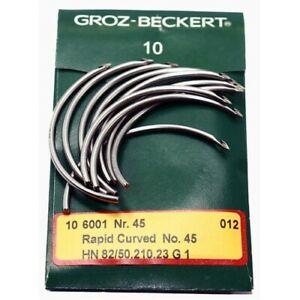 Groz-Beckert  Rapid Curved 6001 Nr.45 HN 82/50.210.23 G1 10pcs. Sewing Needles