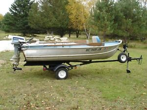"12"" aluminum Meyers fishing boat w/ Balco trailer"