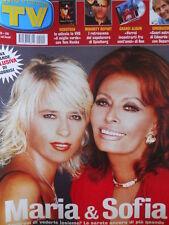 TV Sorrisi e Canzoni n°40 2002 Maria de Filippi Sofia Loren Rolling Stones [D15]