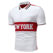 Short Sleeve New York Embroidery Polo Shirt - White