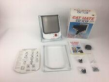 Cat Mate Electromagnetic Cat Flap Pet Door 4 Way White, model 254W
