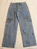 Lioness Women's Princess Polly Stacey Denim Jeans FR7 Blue Size US:4 AU:8 NWT