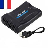 Adaptateur Convertisseur Péritel (SCART) vers HDMI 1080P HD TV Vidéo + Câble