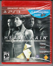 Heavy Rain - Director's Cut (Sony PlayStation 3, 2011) *NEW*