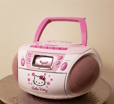 Hello Kitty CD Player Boombox Stereo Radio Tape Recorder 2008 Working KT2028A