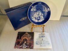 "ROYAL COPENHAGEN 1990 Christmas Plate~""Christmas at Tivoli"" W/Box & Cert."