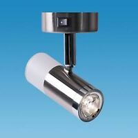 CARAVAN 12V LED READING SPOT LIGHT SWITCHED BRUSHED STEEL WITH REAR GLOW PO784