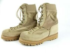 Corcoran Mens Size 8 1/2W Tan Leather Lace Up Vibram Military Boots EUC