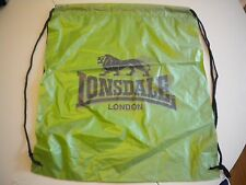 Lonsdale Drawstring Bag School PE Dance Shoes Fitness Gym Sports Swim Backpack