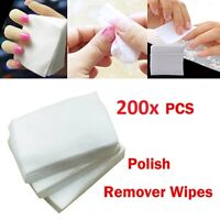 200 Pack Of Lint Free Nail Wipes Pads Professional Use Manicure Gel Removal