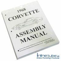 1968 Chevrolet Corvette  Factory Assembly Rebuild Instruction Manual Book