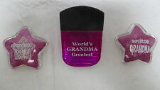 Set of 3 Magenta Grandma Magnets