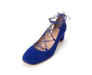 STUART WEITZMAN Shoes Electric Blue Suede Cordon Lace Up Size 9 M  Made in Spain