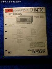 Sony Service Manual TA H4700 Amplifier  (#2405)