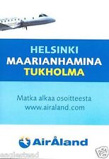 Airline Timetable - Air Aland - 06/06 (Finland) - Saab 340 - S