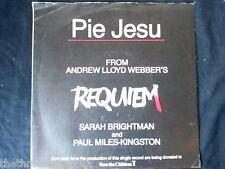 "VINYL 7"" SINGLE - PIE JESU - REQUIM - SARAH BRIGHTMAN - WEBBER1"