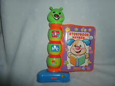 Fisher Price Laugh & Learn Storybook Rhymes Interactive Toddler Book Toy