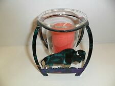 Lazart Buffalo Candle Holder - Made in USA - Candle Included