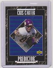 1995 UPPER DECK CRIS CARTER PREDICTOR REDEEMED ROOKIE CARD #RP23