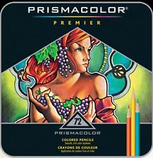 Prismacolor Premier Colored Pencils - 72 Tin ++++ Free Gift - Colorless Blender