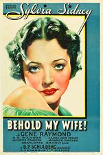 Behold My Wife 1934 DVD  Sylvia Sidney, Gene Raymond, Ann Sheridan