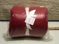 NEW Pottery Barn Thermal Sherpa back knit throw 50 x 60 Red