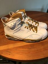 """NIKE AIR JORDAN 6 RETRO """"GOLDEN MOMENTS PACKAGE - SIZE 11 - 100% AUTHENTIC"""