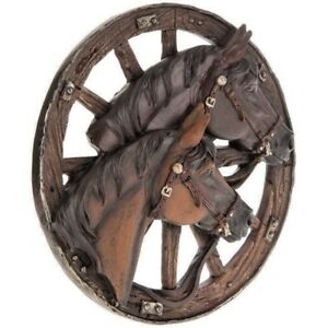 Horse & Wagon Wheel Wall Décor Rustic Western Country Wall Décor